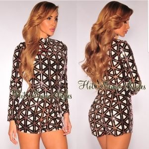 Hot Miami Styles Sequin Bodysuit